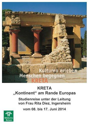 können Sie das Programm dieser Kreta-Reise als ... - Biblische Reisen