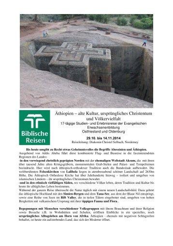 Äthiopien – alte Kultur, ursprüngliches ... - Biblische Reisen