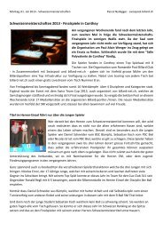 Schweizermeisterschaften 2013 - Finalspiele in ... - Bieler Tagblatt
