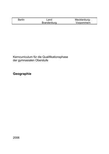 Kerncurriculum Geografie - Bildungsserver Mecklenburg-Vorpommern