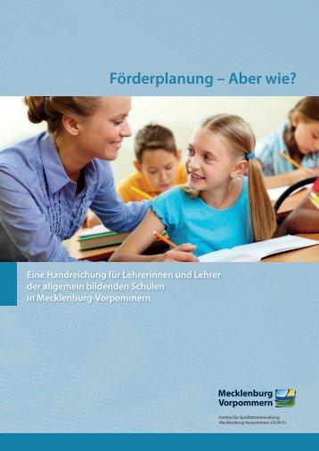 Handreichung - Bildungsserver Mecklenburg-Vorpommern