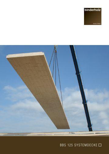 bbs 125 systemdecken - Binderholz