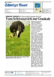 Vom Schwanzviehzur Graskuh - Bioaktuell.ch