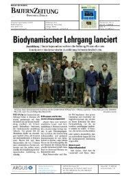 Biodynamischer Lehrgang lanciert - Bioaktuell.ch