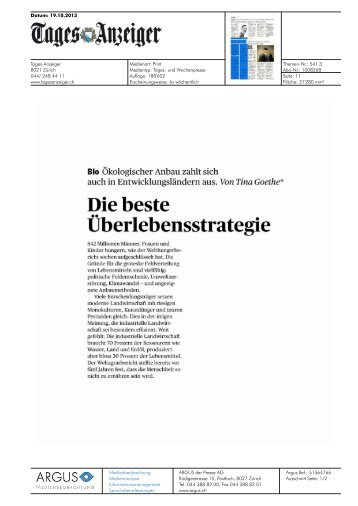 Überlebensstrategie - Bioaktuell.ch