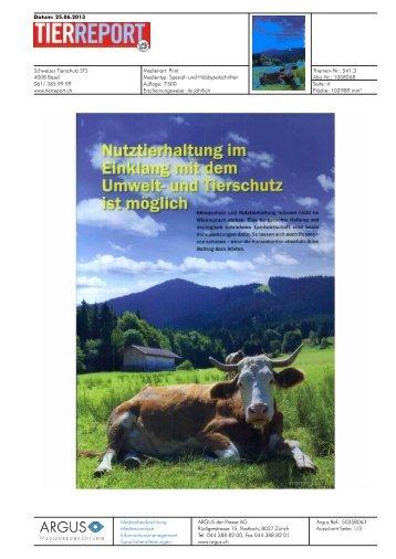 Datum: 25.06.2013 Schweizer Tierschutz STS 4008 ... - Bioaktuell.ch