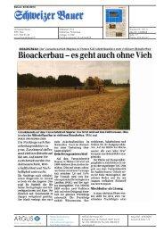 Bioackerbau-es geht auch ohne Vieh - Bioaktuell.ch