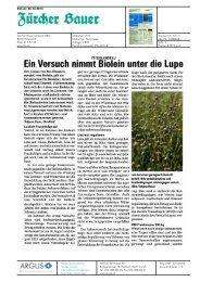 Ein Versuch nimmt Biolein unter die Lupe - Bioaktuell.ch