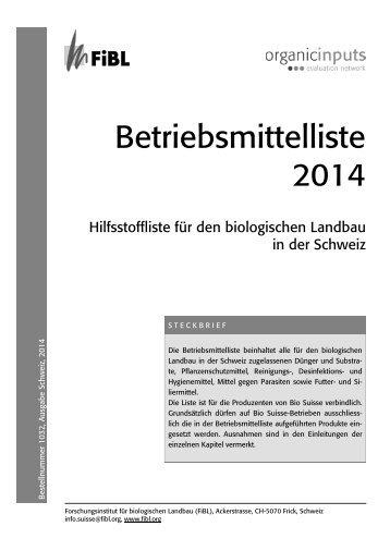 Betriebsmittelliste 2014 - Bioaktuell.ch
