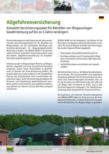 Allgefahrenversicherung Komplett ... - Biogas-Infoboard