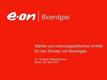 Märkte und ordnungspolitisches Umfeld Bioerdgas