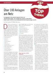 Über 100 Anlagen am Netz (pdf) - Fachverband Biogas e.V.