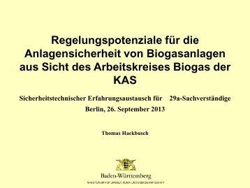 Thomas Hackbusch - Fachverband Biogas e.V.