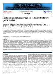 Isolation and characterization of ethanol tolerant ... - Bioinformation