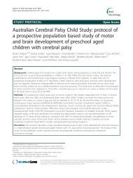 Australian Cerebral Palsy Child Study: protocol of ... - BioMed Central