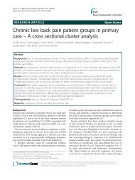 Chronic low back pain patient groups in primary ... - BioMed Central