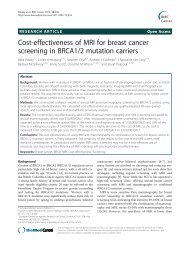 Cost-effectiveness of MRI for breast cancer ... - BioMed Central
