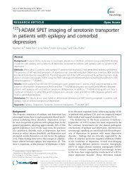I-ADAM SPET imaging of serotonin transporter in patients with ...