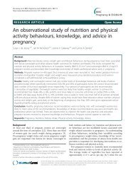An observational study of nutrition and physical ... - BioMed Central