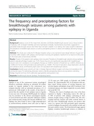 The frequency and precipitating factors for breakthrough seizures ...