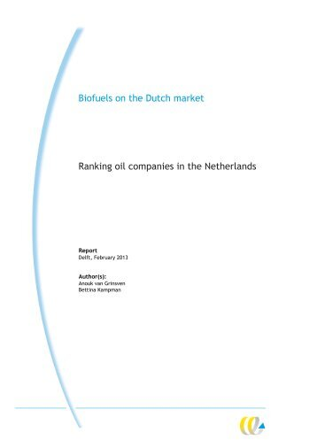 Biofuels on the Dutch market - BirdLife International