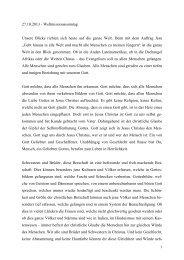 27.10.2013 - Weltmissionssonntag Unsere Blicke richten ... - Bistum