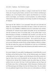 Fest des hl. Stephanus - Bistum