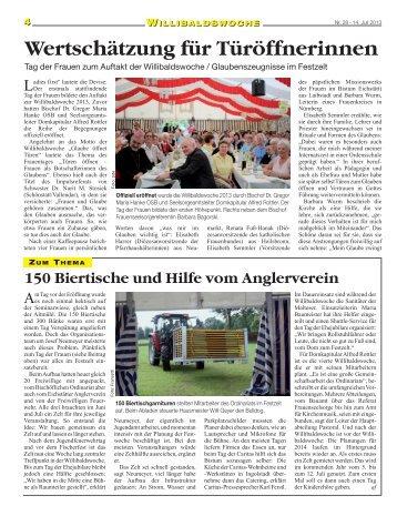 Bericht der Kirchenzeitung - Bistum
