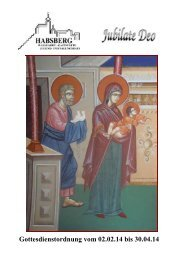 Gottesdienstordnung vom 02.02.14 bis 30.04.14 - Bistum