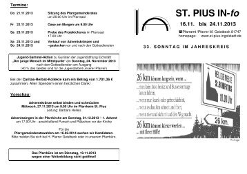 Gottesdienstordnung_33_Sonntag im ... - Bistum
