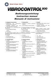 Bedienungsanleitung Instruction manual Manuale di instruzione