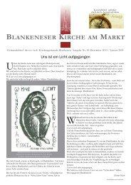 Gemeindebrief 83 - in Blankenese