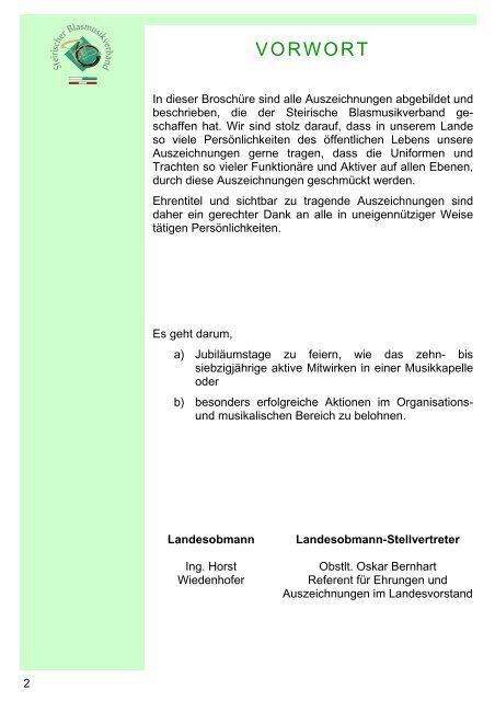 Ehrenzeichen-Verleihungsbestimmungen - Steirischer ...