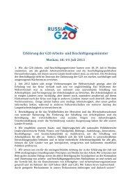 Erklärung der G20 Arbeits- und Beschäftigungsminister Moskau, 18 ...