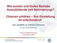 Präsentation von Prof. Dr. Mathilde Niehaus, Universität zu Köln