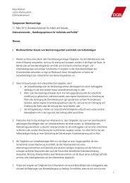 Thesenpapier Helga Nielebock, Deutscher Gewerkschaftsbund