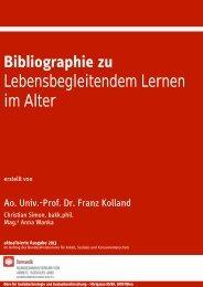 Bibliographie Bildung im Alter. Wien 2013 - Bundesministerium für ...