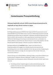 Gemeinsame Pressemitteilung - Bundesministerium für Gesundheit