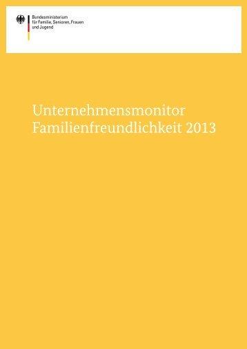 Unternehmensmonitor Familienfreundlichkeit 2013