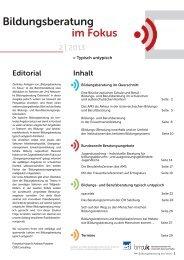 Bildungsberatung im Fokus (2/2013) (pdf, 1 MB)