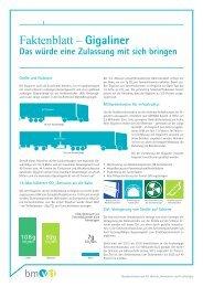 Faktenblatt: Gigaliner - Bundesministerium für Verkehr, Innovation ...