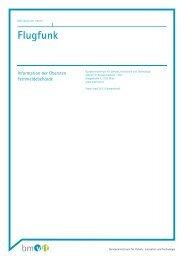 Flugfunk - Bundesministerium für Verkehr, Innovation und Technologie