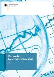 Daten des Gesundheitswesens 2013 - Bund.de