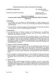 SNG-Funkanlagen in Österreich - Bundesministerium für Verkehr ...