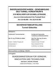 Sicherheitsbeurteilung Tunnel Götschka - Bundesministerium für ...