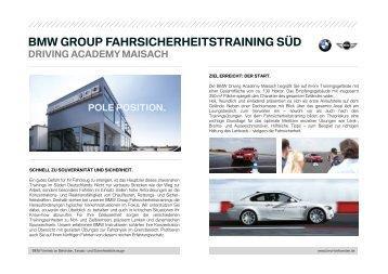 Fahrsicherheitstraining SUED - BMW Deutschland