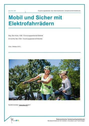 Mobil und Sicher mit Elektrofahrrädern - Bundesministerium für ...