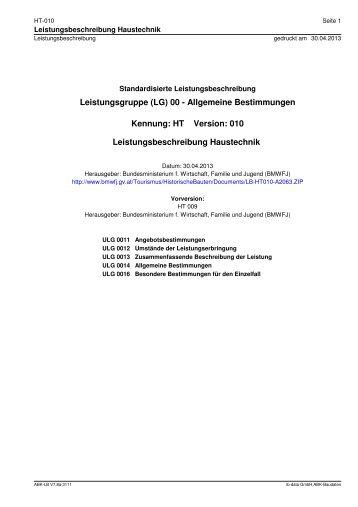 (LG) 00 - Allgemeine Bestimmungen - Bundesministerium für ...