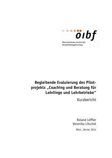 Evaluierung - Kurzbericht - Bundesministerium für Wirtschaft ...