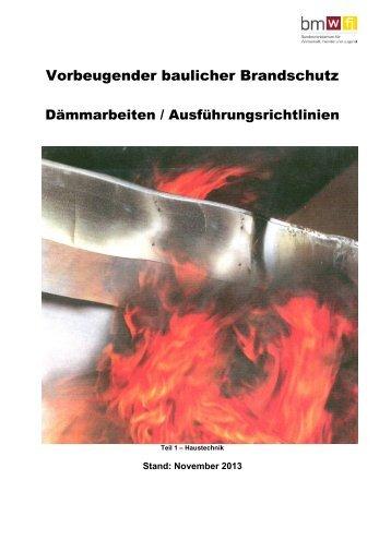 Vorbeugender baulicher Brandschutz - Bundesministerium für ...